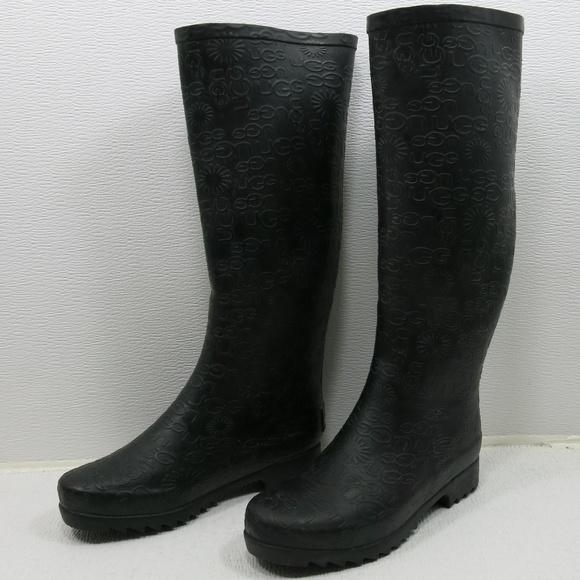 47a43904b0d2 UGG Australia 3386 Wilshire Logo Tall Rain Boots 5.  M 5bbd1e3804e33d6f89ff212b